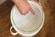湯煎のお湯の水位
