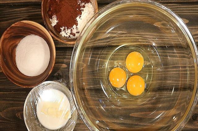 チョコシートスポンジ生地材料