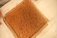 チョコシートスポンジケーキの完成
