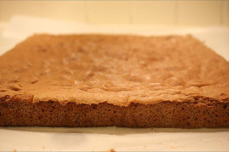 チョコシートスポンジケーキ(ココアジェノワーズ)できあがり