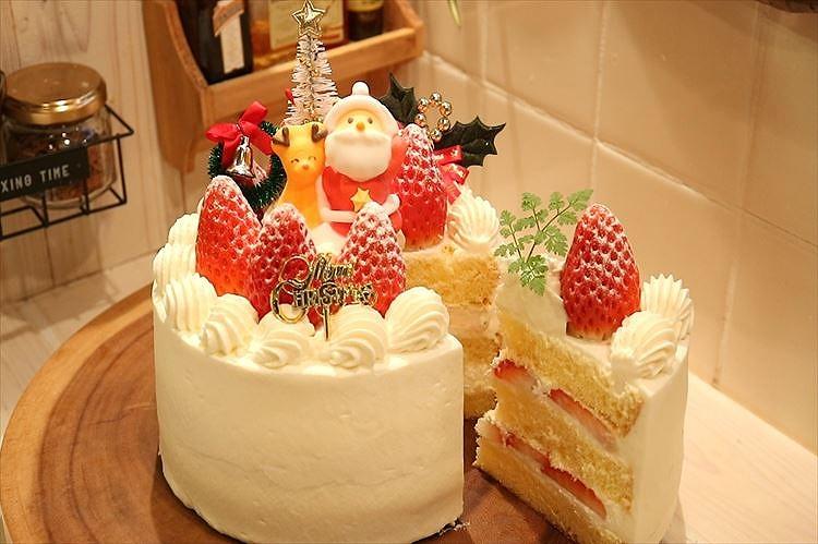 プロレシピの本格クリスマスケーキできあがり