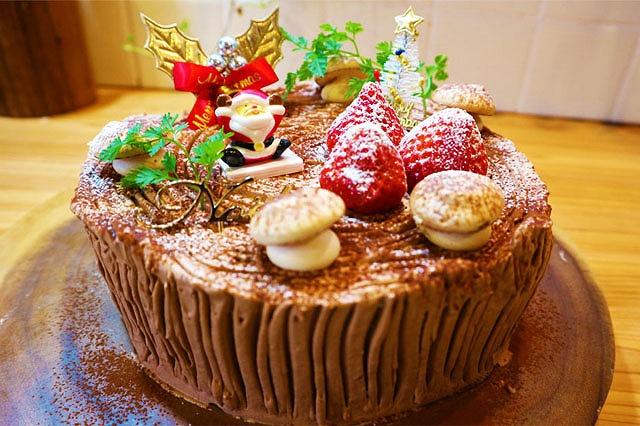 切り株ケーキできあがり