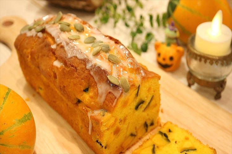 かぼちゃのパウンドケーキできあがり