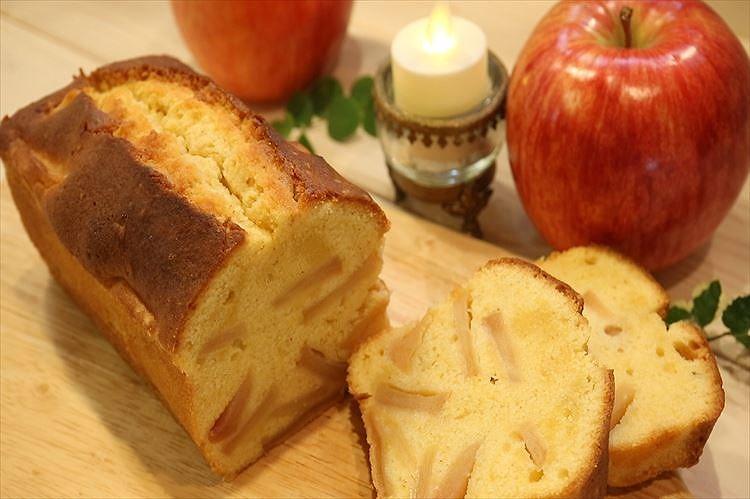 りんごのパウンドケーキできあがり
