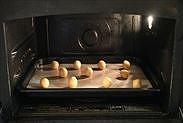 きな粉のスノーボウルクッキーを焼く