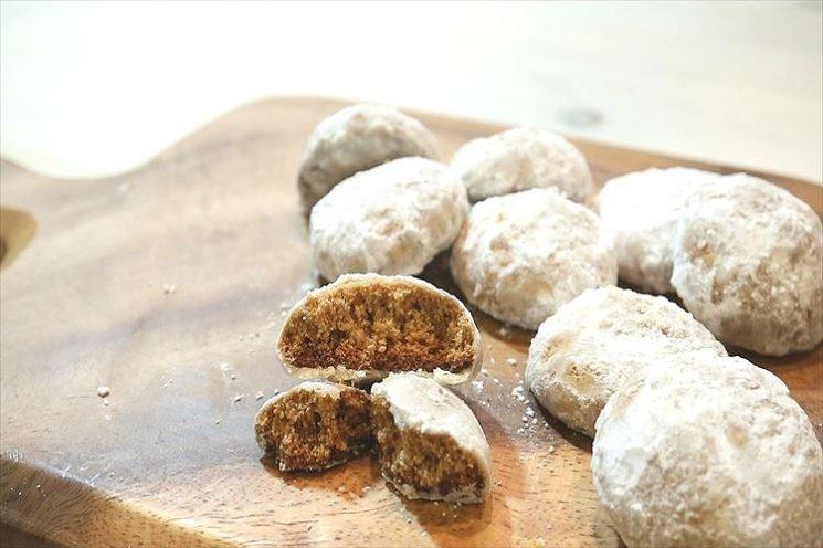 きな粉のスノーボウルクッキー