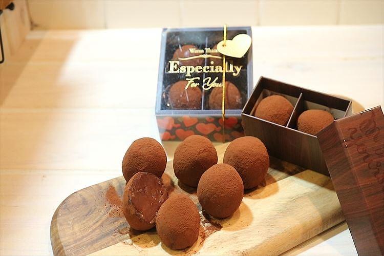 トリュフ☆とろける生チョコレートできあがり