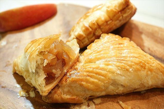 三角アップルパイの作り方・レシピ☆冷凍パイシートで簡単