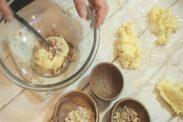 1つのクッキー生地から6種類のクッキ―生地を作る