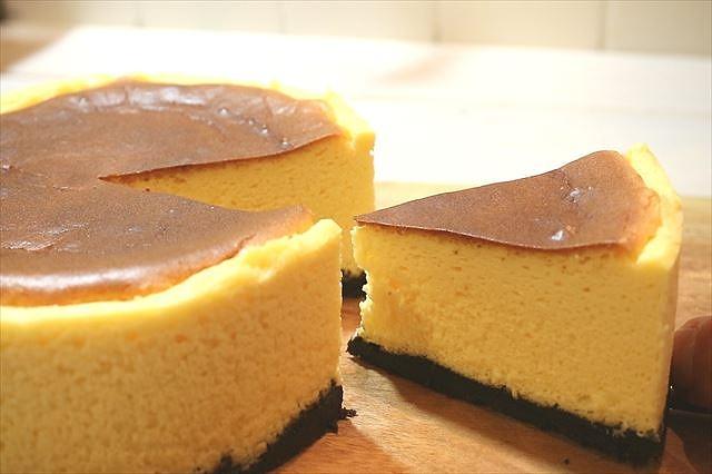 天使の口どけベイクドチーズケーキ出来上がり