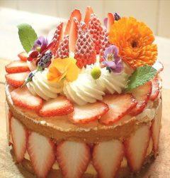 苺のフレジエ風ショートケーキの作り方☆簡単フラワリーレシピ☆ - コリスのお菓子作りブログ