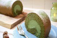 ふんわり抹茶ロールケーキ