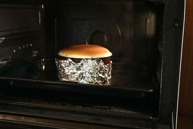 ニューヨークチーズケ―キを30分焼く