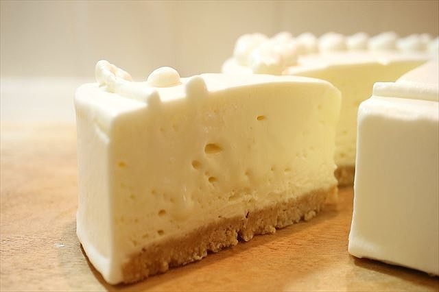 天使の口どけレアチーズケーキできあがり