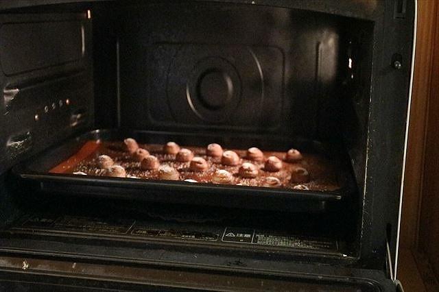 チョコレート絞り出しクッキーを焼く