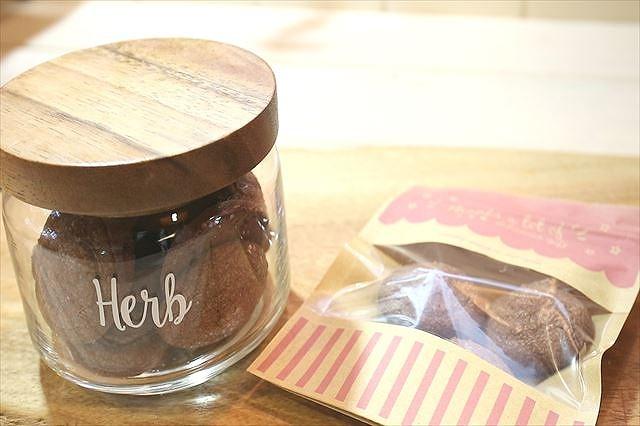 チョコレート絞り出しクッキーをラッピングする