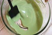 抹茶クリームの原液の完成