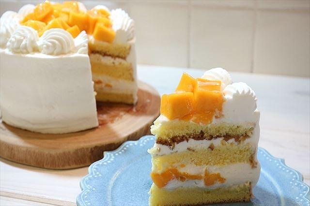 マンゴーショートケーキできあがり