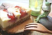 苺のニューヨークチーズケーキ完成