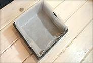 18㎝角型に焼き紙を敷く