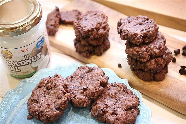 ココナッツオイルチョコチップクッキー出来上がり