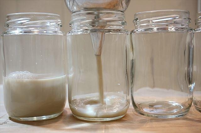 soyプリン液を流し入れる