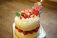卵1個で作れる12㎝簡単お誕生日・お祝いケーキ完成