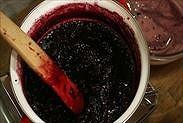ブルーベリージャム炊きあがり