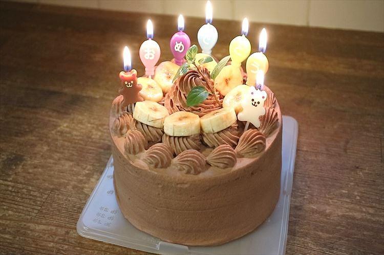 基本のお誕生日・お祝い☆生チョコレートケーキ出来上がり