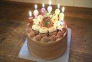 基本のお誕生日・お祝い生チョコレートケーキ完成