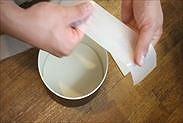 焼き紙を伸ばす