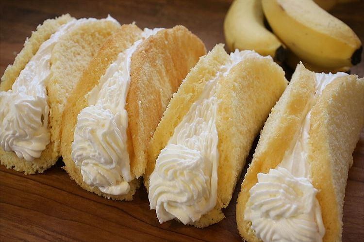 まるごとバナナのオムレット出来上がり