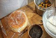 かぼちゃのハロウィンショートケーキに使う材料