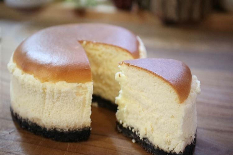 小さなニューヨークチーズケーキ出来上がり