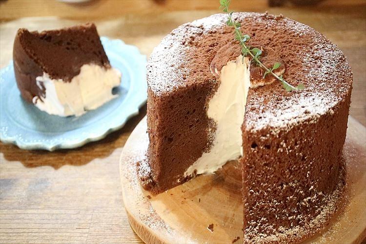 生ガトーショコラ・シフォンケーキできあがり