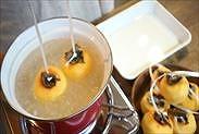 柿を熱湯殺菌する
