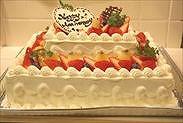 2段デコレーションケーキの正面