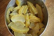 シロップで煮て冷ました柚子の皮