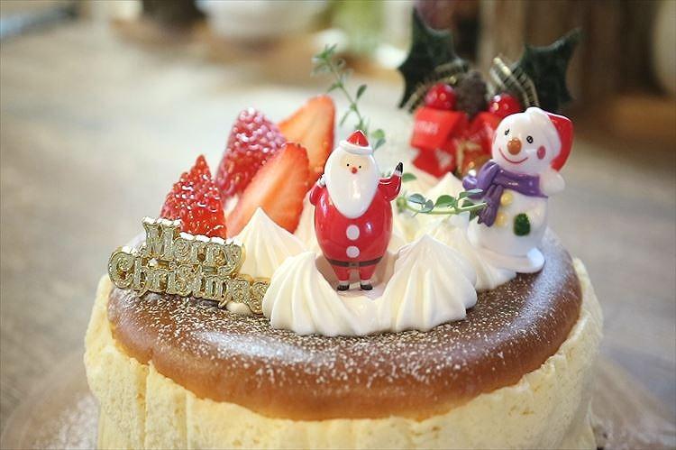クリスマス☆チーズケーキデコレーション出来上がり
