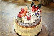 クリスマス☆チーズケーキデコレーションの完成