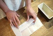 焼き紙に折り目をつける