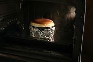 スフレチーズケーキを25分焼いた状態