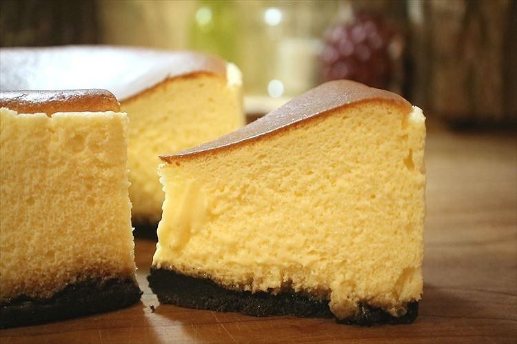 天使の半熟スフレチーズケーキできあがり