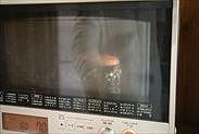 いちごのスフレチーズケーキを焼く