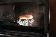 いちごのスフレチーズケーキ焼き上がり