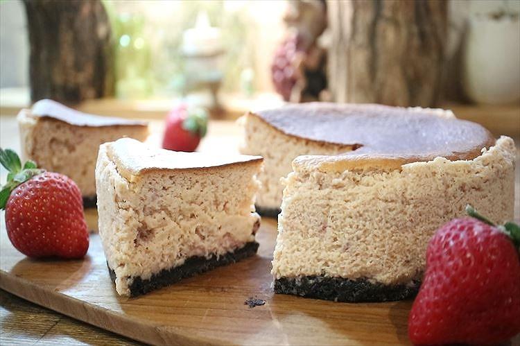 いちごのスフレチーズケーキできあがり