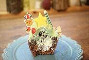カップケーキの断面