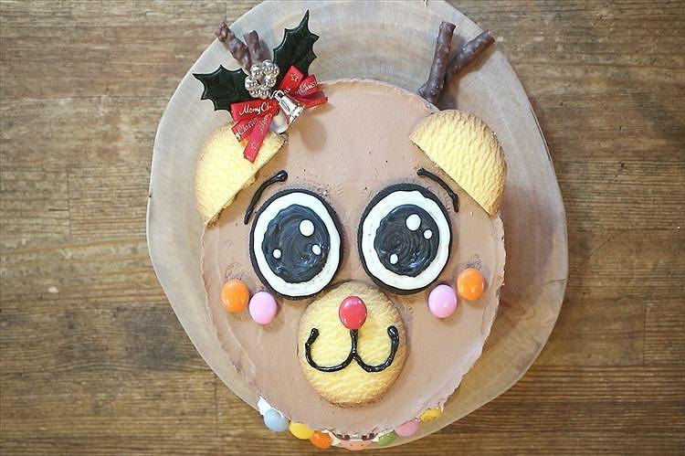 トナカイのクリスマスケーキ出来上がり