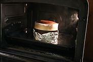 ルビーチョコレートスフレケーキ焼き上がり