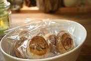 袋に入れたクルミのディアマンクッキー